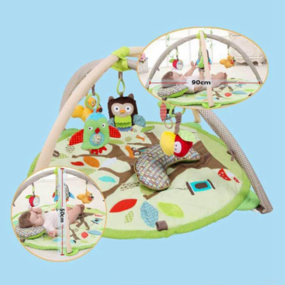 Babelemi bande dessinée animaux de la forêt doux bébé tapis de jeu enfants tapis garçon fille tapis de jeu tapis enfants jouet éducatif - 6