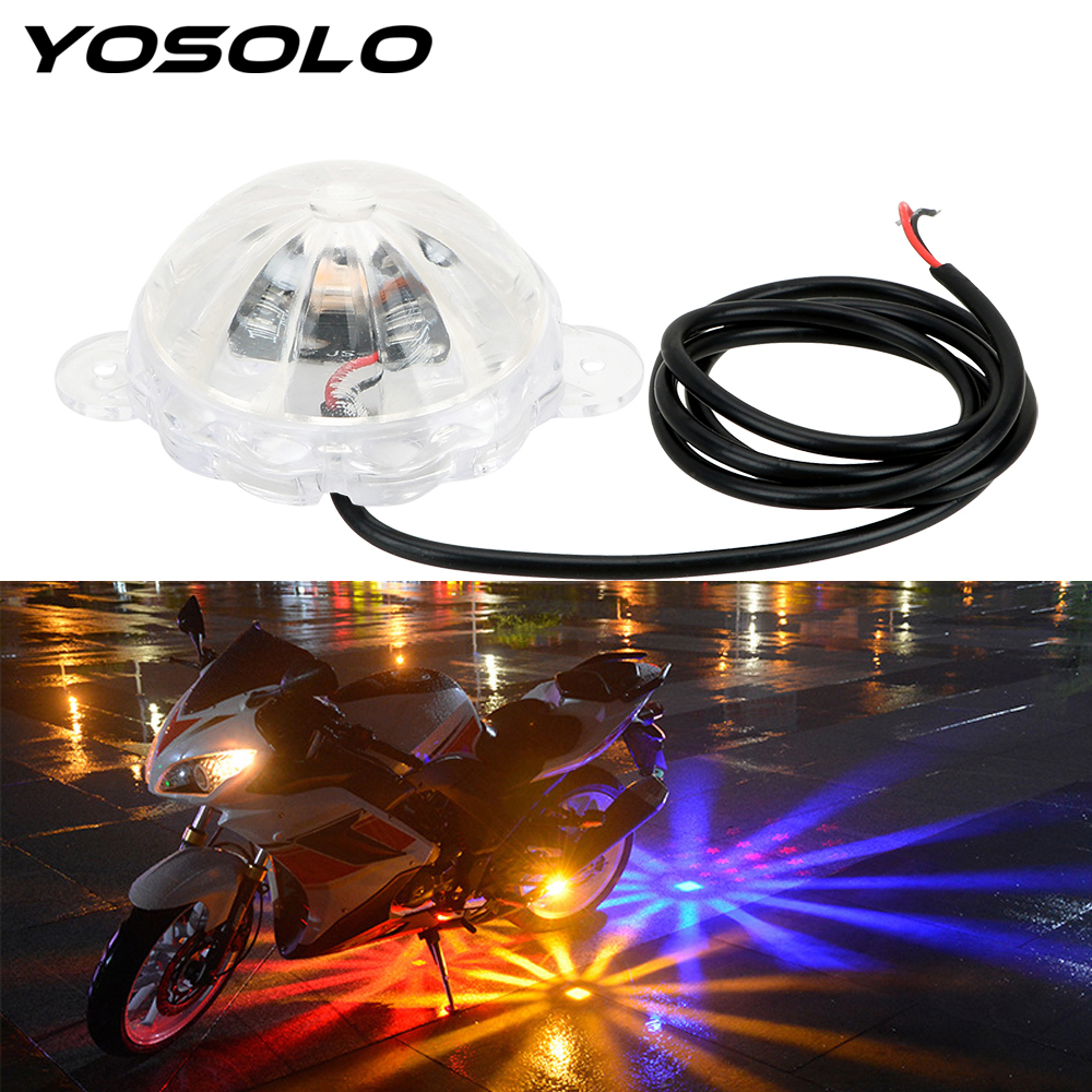 YOSOLO Motorcycle Lighting Atmosphere Lamp Moto Chassis Light LED Atmosphere Lamp Motorbike Flash Strobe Light