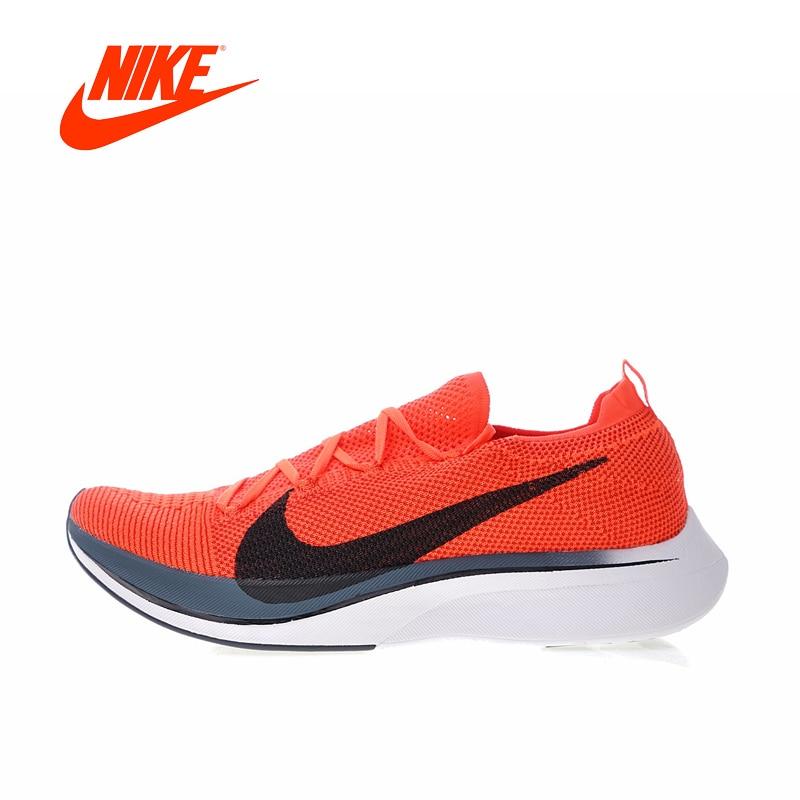 2018 D'origine Nike Vaporfly Flyknit Chaussures de Course de 4% Hommes Sport Sneakers AJ3857-601 Jogging En Plein Air Stable Respirant gym Chaussures