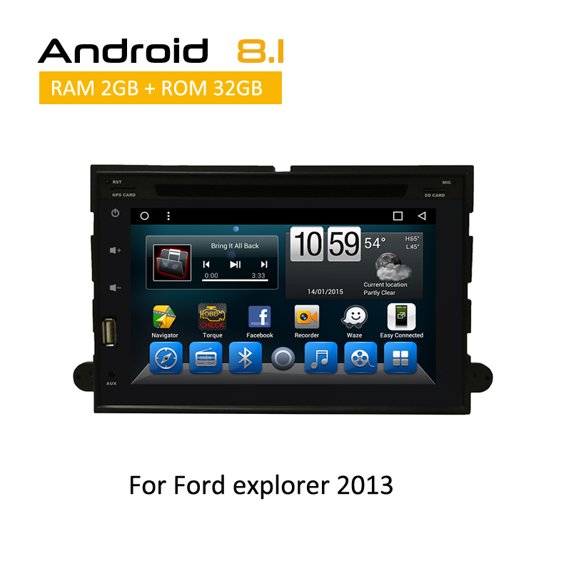 Android 8.1 Car DVD Player for Ford explorer 2013 2 din in dash Car GPS Navigation Mulitimedia Player System car stereo radio