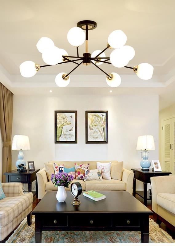 Modern LED chandeliers ceiling Nordic luminaires Deco lighting Glass fixtures living room bedroom dinning room hanging lights in Chandeliers from Lights Lighting