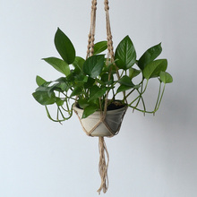New Arrival Hemp Rope Plant Holder Hanging Planter Basket Holder Flowerpot Hanging Basket Bracketplant Stents