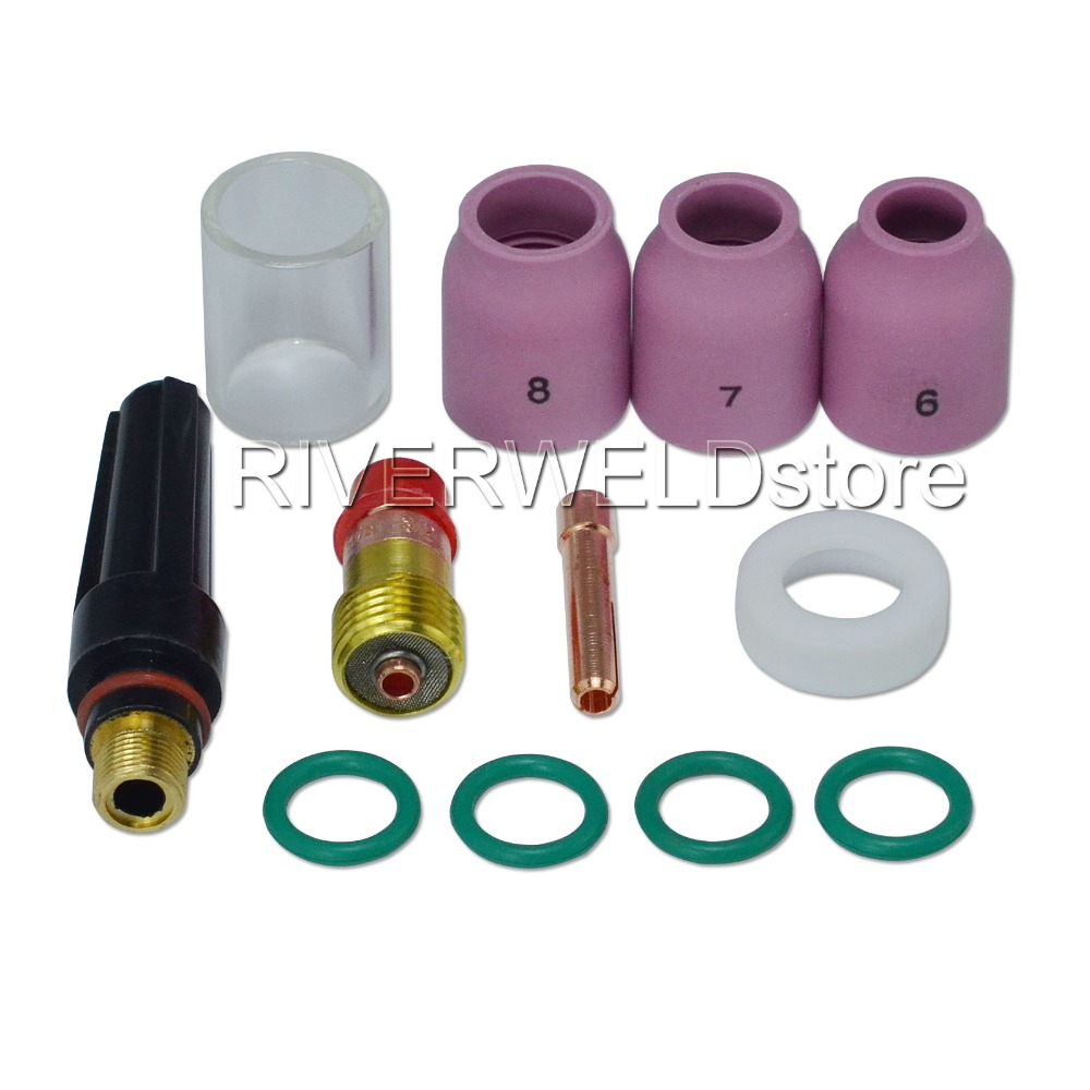 33 pcs TIG Welding Torch Nozzle part Kit for WP-9 WP-20 WP-25 WP Pure Tungsten