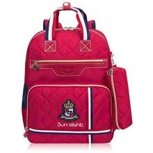 Ортопедии модный школьный рюкзак школьные сумки для Обувь для мальчиков/девочек Водонепроницаемый рюкзак для детей школьная сумка 2018 тенденции моды