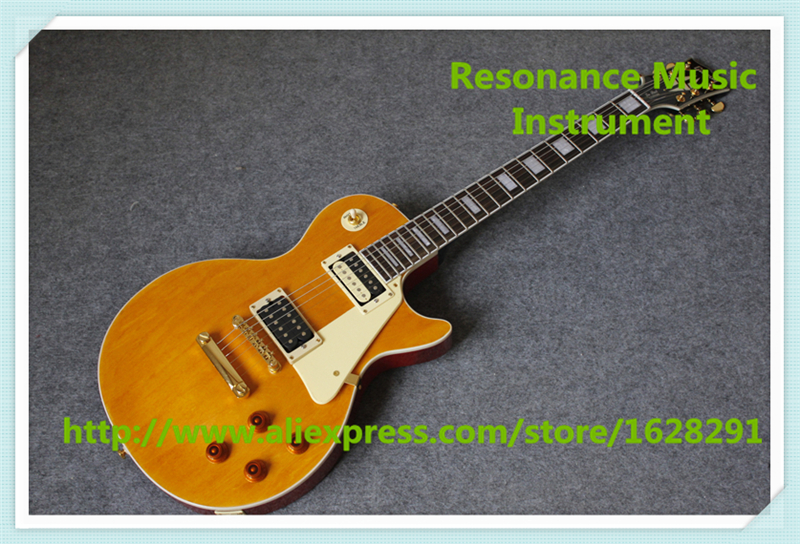 Hot Selling China Marc Bolan Signature LP Custom Guitar In Yellow Finish Same As Picture For Sale newest arrival best prices ace frehley budokan signature electric guitar lp in stock for sale