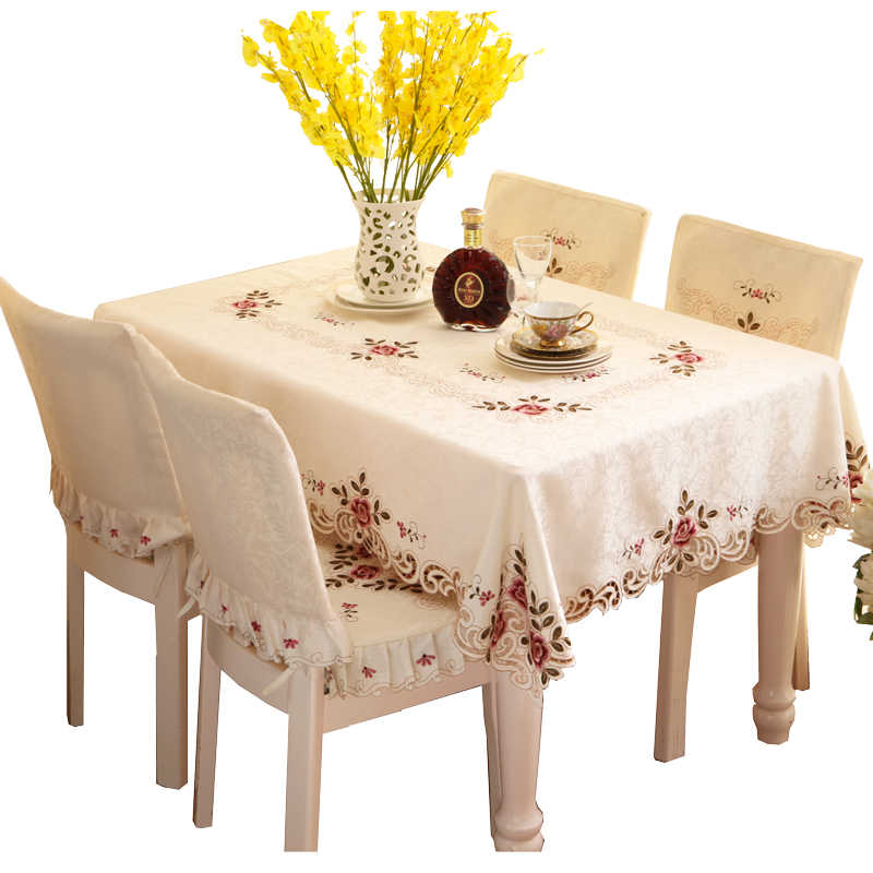 Large Round Table Cloth.Embroidered High End Round Table Cloth Large Round Tablecloth Small Round Tea Table Cover Mat