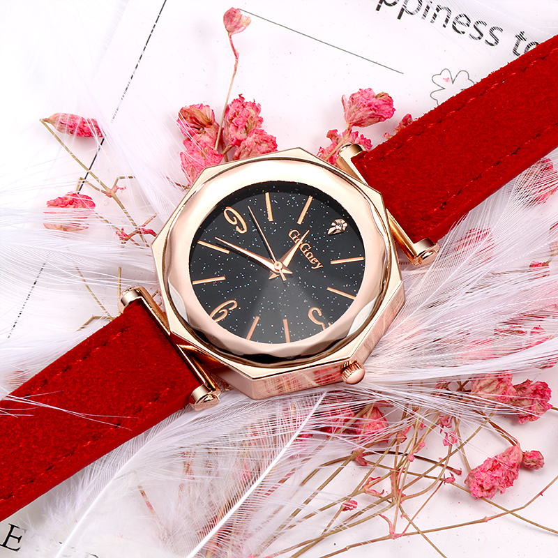 2018 Fashion Rose Gold Women's Watches Top Brand Luxury Diamond Ladies Watch Women Watches Leather Wrist Watch relogio feminino