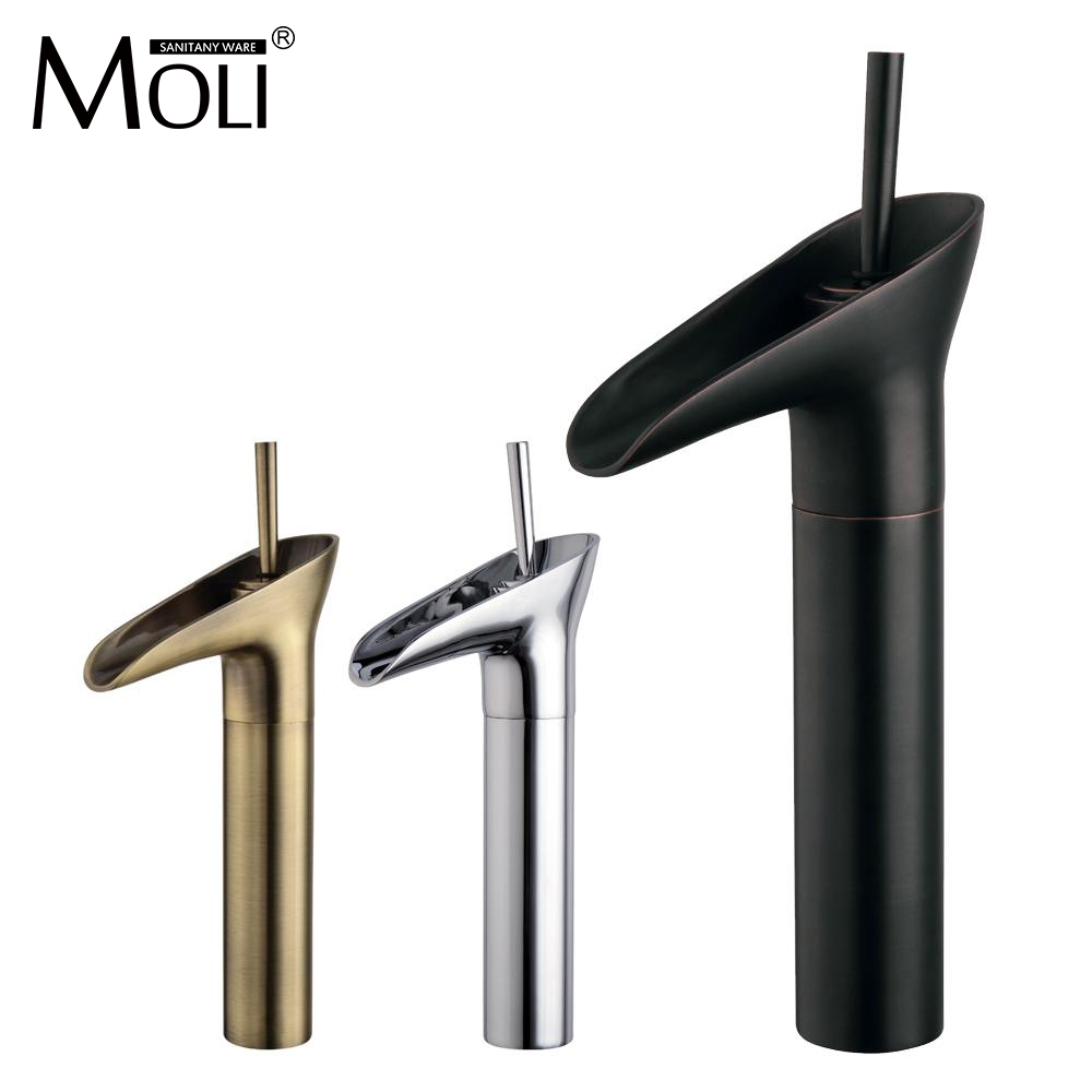 Bathroom tall washbasin faucet chrome antique brass and oil rubbed bronze faucets waterfall sink tap torneira banheiro allen roth brinkley handsome oil rubbed bronze metal toothbrush holder