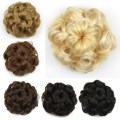1PC 8 colors Synthetic Donut Roller Hairpieces Bun Hair Chignon flower Hair bun