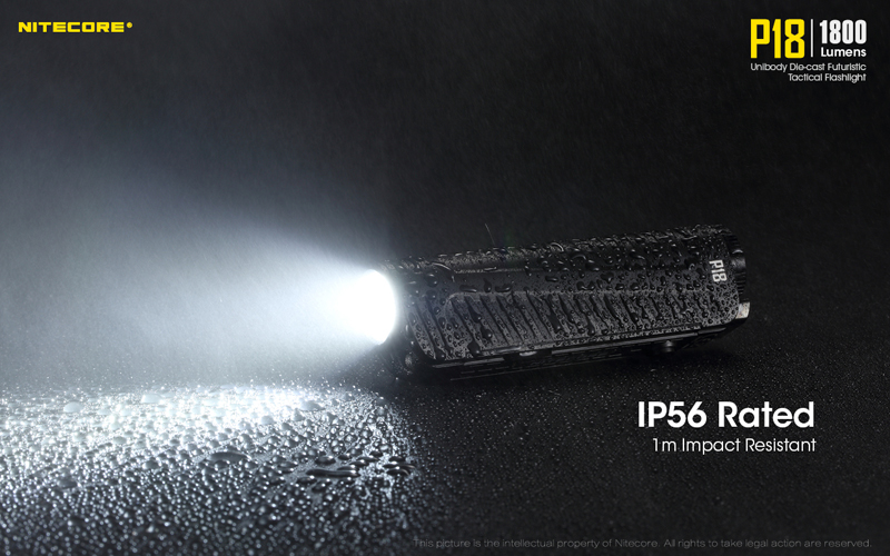 1800 Lumens Nitecore P18 Tactical Flashlight (18)