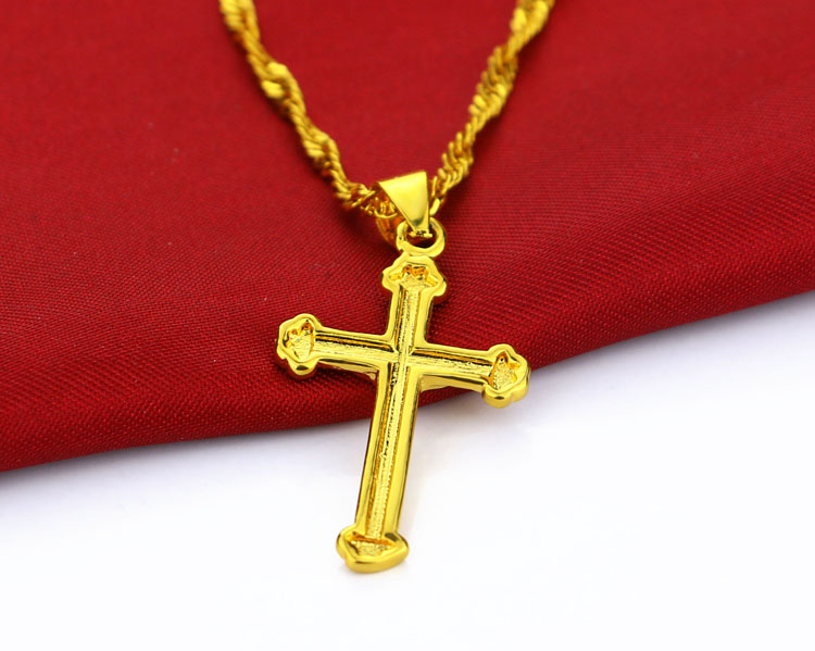 Jesus christ to the cross pendant necklacegolden cross chain jesus christ to the cross pendant necklacegolden cross chain necklace womencient christian giftsgolden jewelry wholesale in pendants from jewelry mozeypictures Images