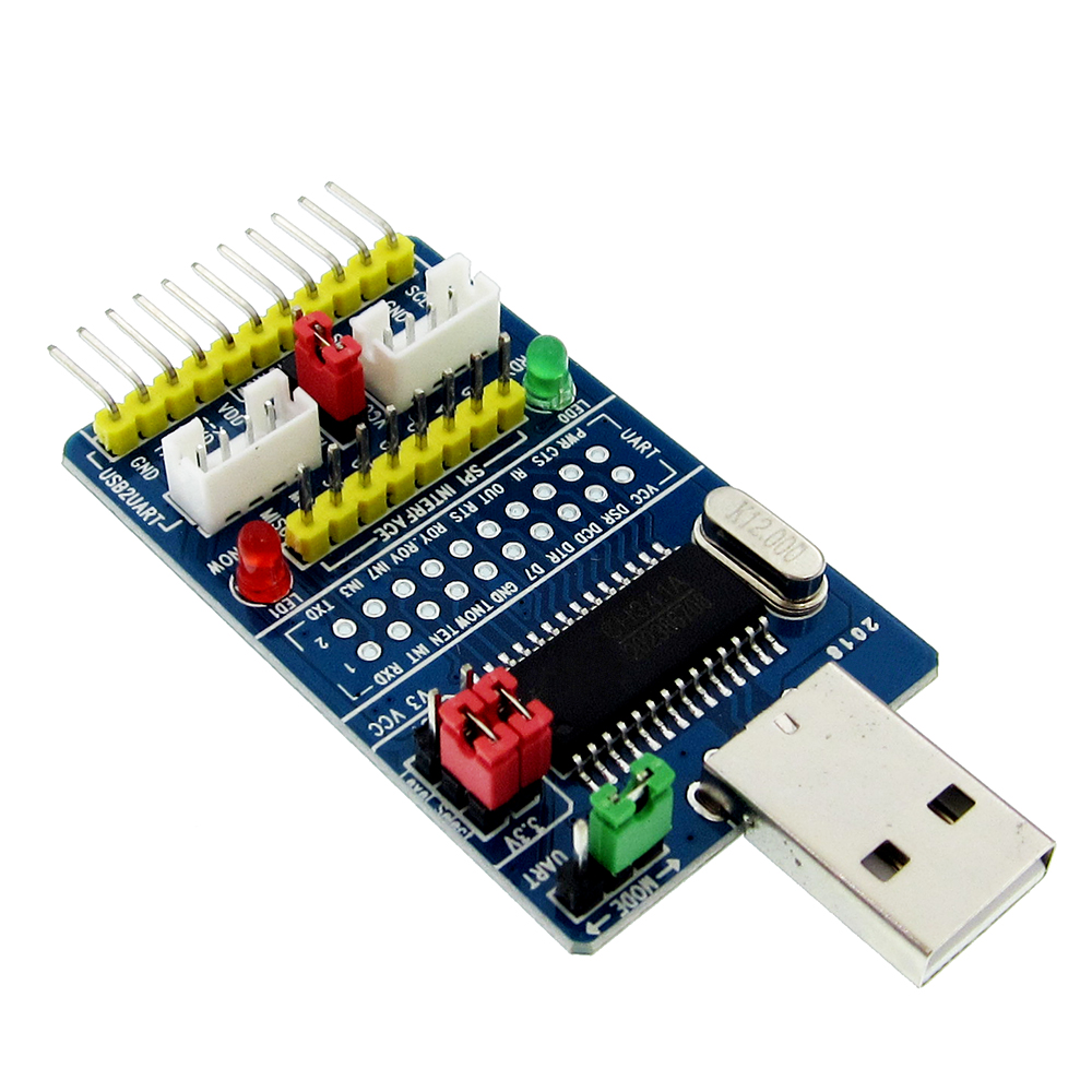 ALL IN 1 CH341A USB to SPI I2C IIC UART TTL ISP Serial Adapter Module EPPMEM Converter For Serial Brush Debugging RS232 RS485