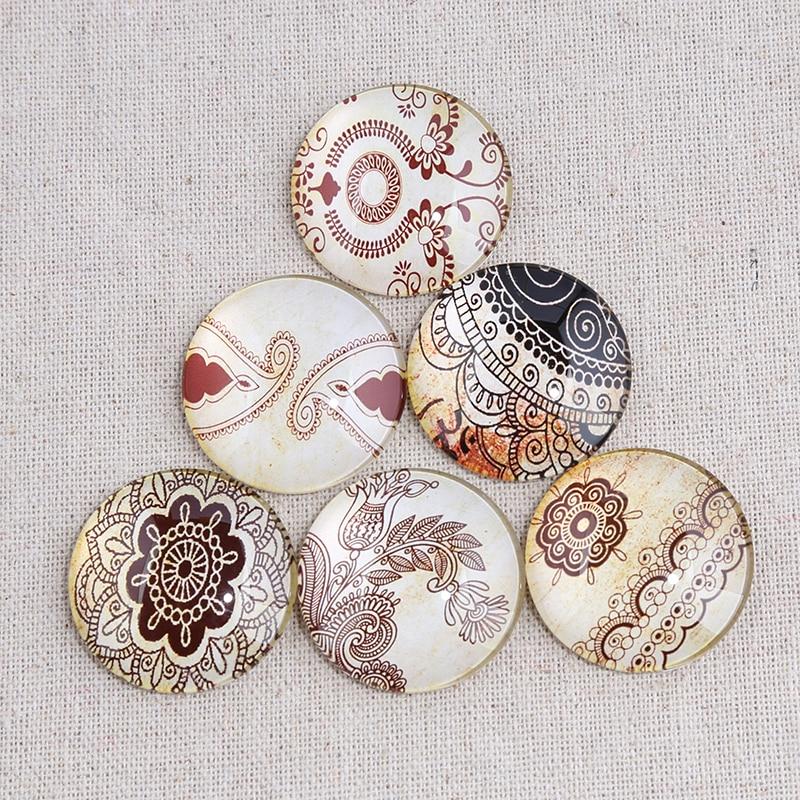 New Flatback Cameo Embellishment Embroidery Flower Photo Round Glass Cabochon