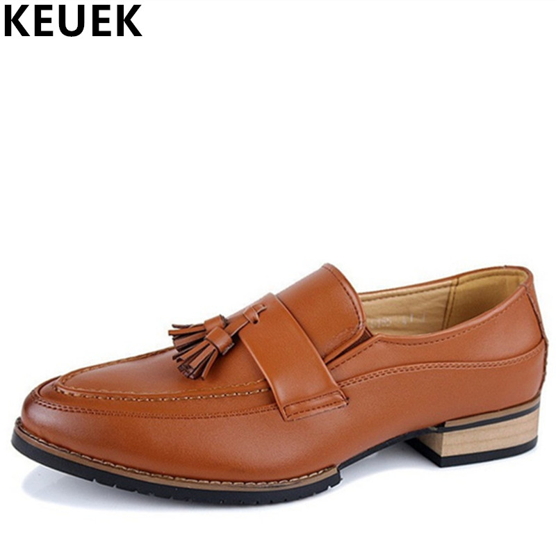 British Style Men Brogue Shoes Casual Leather Shoes Classic Male Business Dress Oxfords Wedding shoes Fashion Tassel Loafers 3A эспандер 160см housefit dd 61261