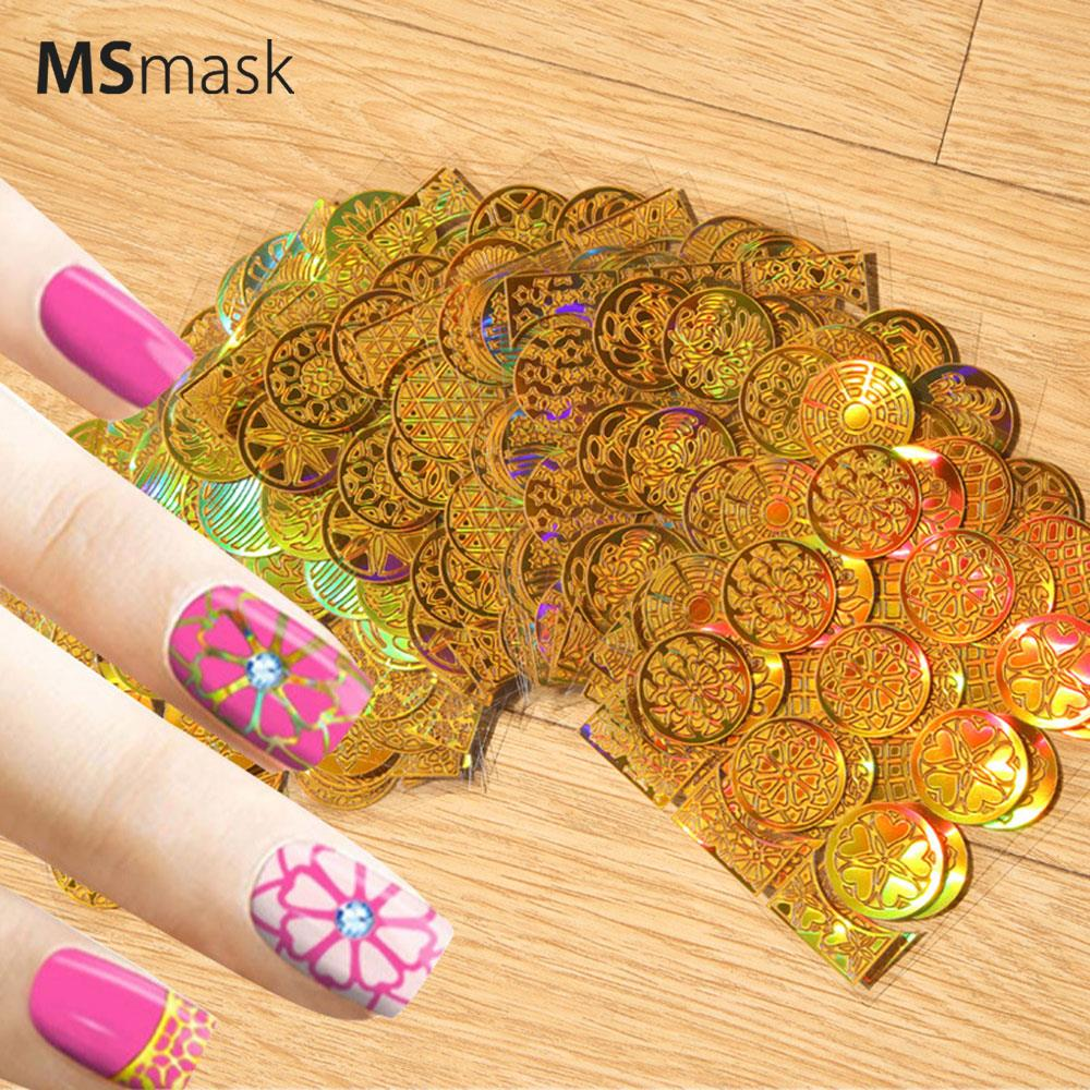 Decoration Nail Art Sticker Ladies 24pcs/Pack Makeup Charming Nail Hollow Paper Finger Art Craft Creative Decor