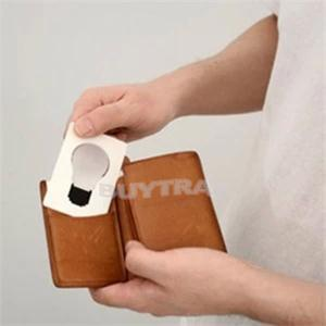 New Design Portable LED Card Pocket Light Bulb Lamp Wallet Size Convenient Camping Mini Lamp