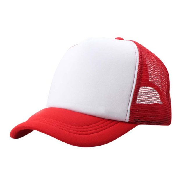 84c5a1c81b0 Summer Adjustable Child Solid Casual Hats Classic Trucker Kids Baseball  Mesh Cap Sun Hat Beathable Women