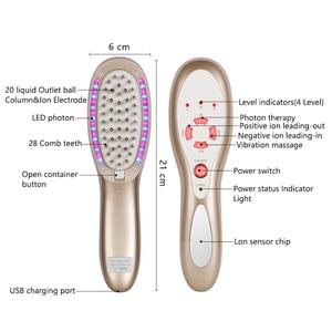 Image 3 - Konmison Oplaadbare Haargroei LED Photon Kam 4 In 1 Trillingen Stimulator Haaruitval Therapie Haar Anti Verlies Hergroei borstel