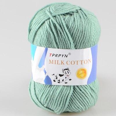 TPRPYN 1 шт. = 50 г пряжа для вязания крючком из молочного хлопка, мягкая теплая Детская Пряжа для ручного вязания - Цвет: 62 ya lv