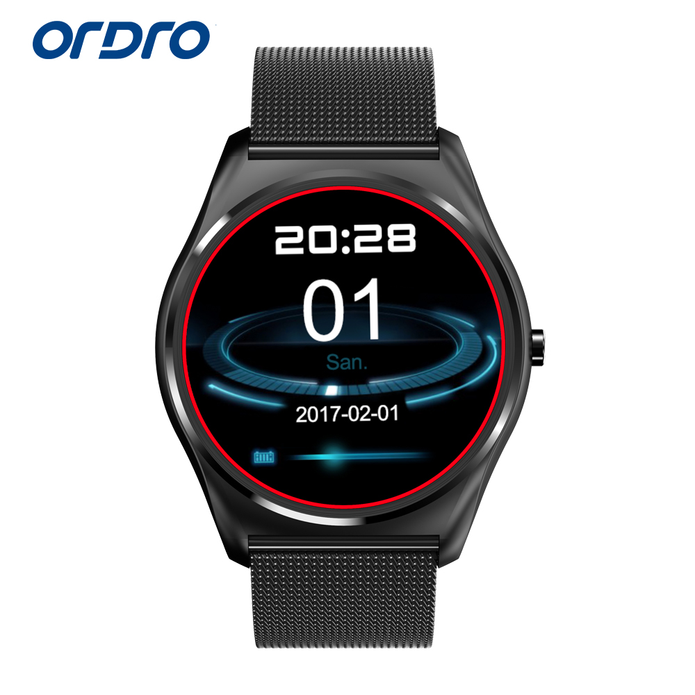 ORDRO Smart Wristband B7 Support Remote Shooting Bluetooth Pedometer Social Media Notifications with Mobile Phone Anti