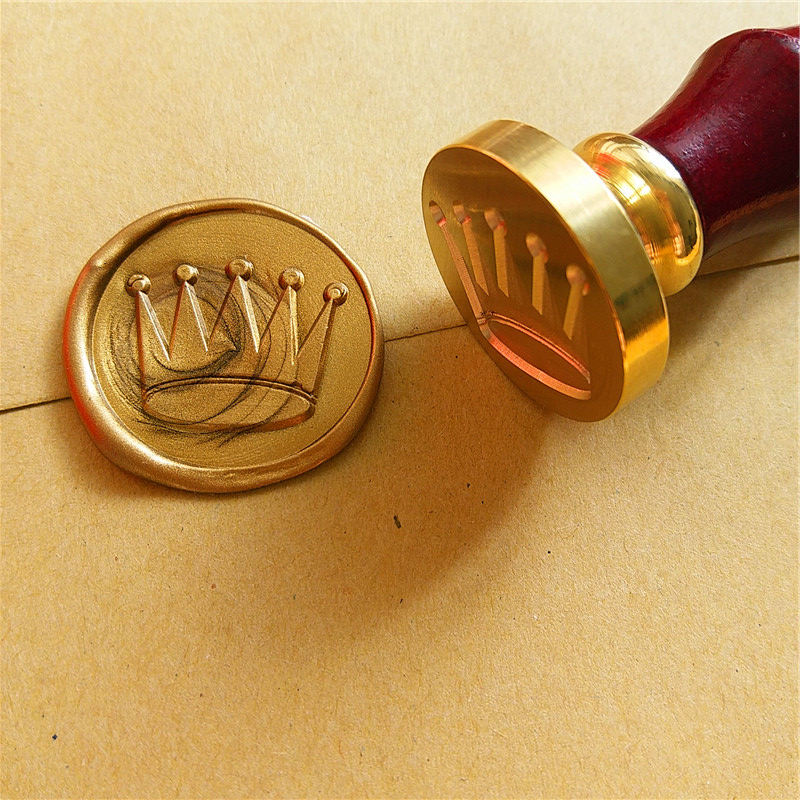 Cute crown Wax Seal Stamp Customize logo Personalized image custom seal wax sealing stamp wedding Invitation Retro antique stamp custom sketchbook a4 draw this graffiti notebook personalized custom printed image logo photo on the cover