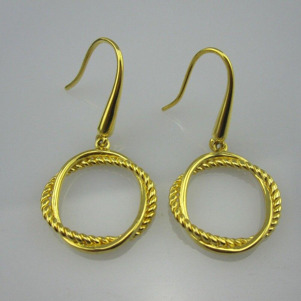 Plaqué or en argent Sterling petite infinité boucles d'oreilles Design bijoux Fine boucle d'oreille femmes bijoux cadeaux de noël livraison gratuite