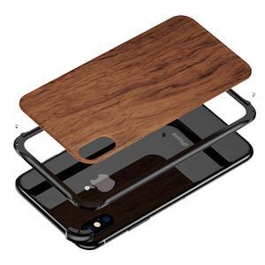 Image 5 - Iphone xs最大xr iphone x xsケースカバーハイブリッドウッド金属フレームバンパーバックケースカバーiphone 6 6s 7 8 プラス