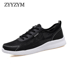 ZYYZYM Shoes Men Fashion Sneakers 2019 Spring Summer Casual Mesh Big Size 38-48 Light Breathable Footwear