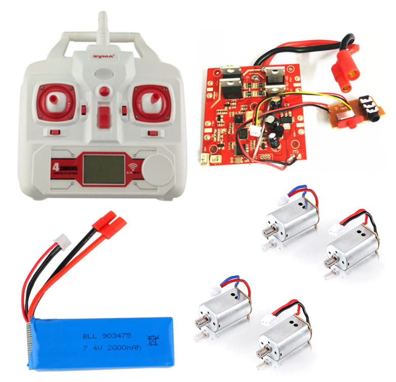SYMA X8C X8G X8W X8 four axis remote control aircraft parts receiving board battery motor X8C-21 remote control new helicopter parts 3pcs battery and 1 cable 3 for syma x8sw x8sc remote control helicopter aircraft lithium battery