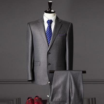 Mariage Pour Style Costume Blazers Formelle Pantalon De Fit Hommes Mâle Slim veste Classique D'affaires Costumes Gris Parti Luxe wXq7YwBT