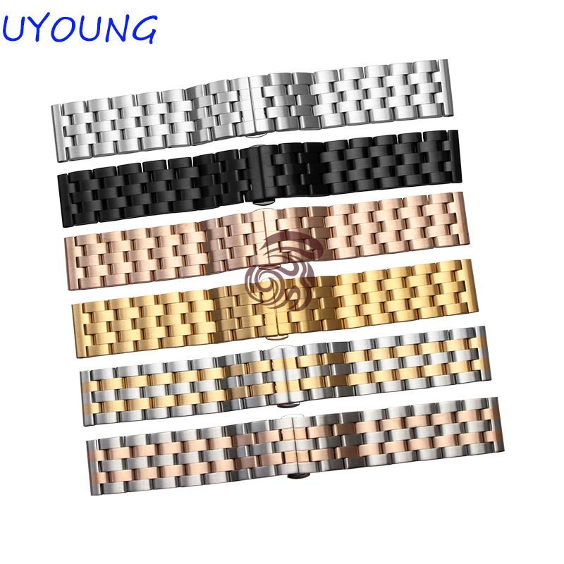 New arrival Solid Stainless Steel Watchband 22mm 24mm Luxury Fine Steel Watch Strap For Mens vitek мясорубка vitek 3611 w мощность 1500 вт 2 вида решеток пластиковый лоток
