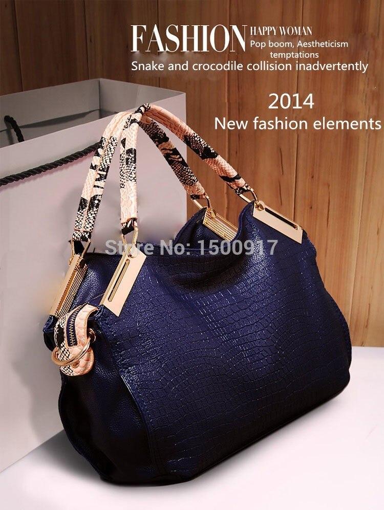 New ashion women handbag crocodile pattern women leather handbag vintage should