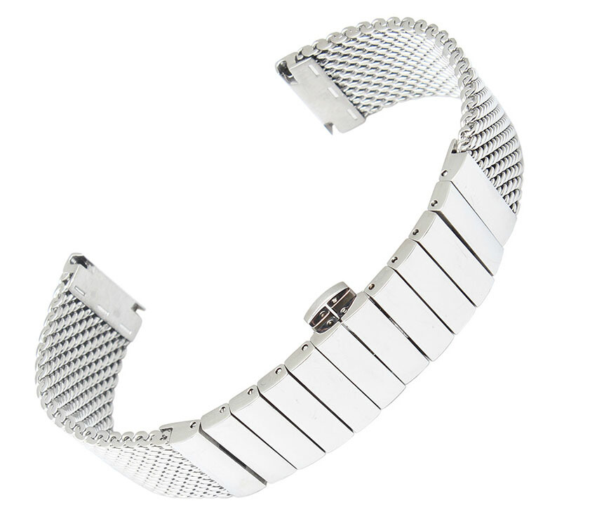 Watch Strap 20mm 22mm 24mm Stainless Steel SHARK mesh bracelet Diving Watch new wristband Free Shipping faux fur white winter boots