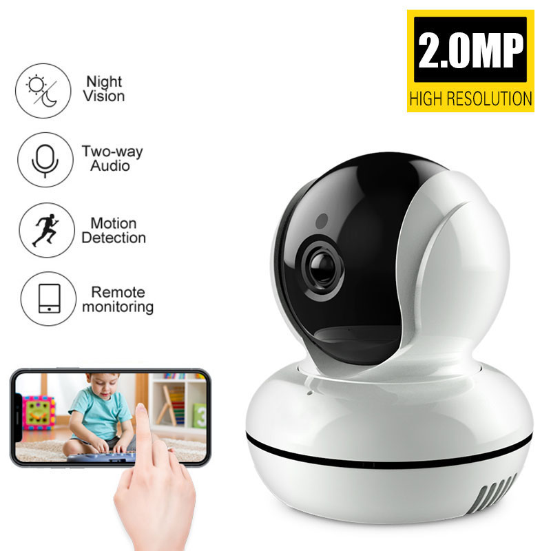 SMARSECUR New version Wifi IP Camera Network Wireless 2.0MP 1080P HD Camera CCTV Security Camera Home Security Baby MonitorSMARSECUR New version Wifi IP Camera Network Wireless 2.0MP 1080P HD Camera CCTV Security Camera Home Security Baby Monitor