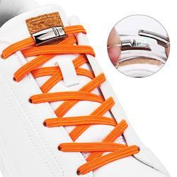 1 пара модных х Магнитные шнурки эластичный без галстука шнурки для детей и взрослых на плоской подошве в стиле унисекс; спортивная обувь на