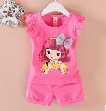 2016 summer style baby girl clothing sets kid clothing sets cotton t-shirt+pants suit  Clothes short sleeves sport suits baby boy clothes 2017 brand summer kids clothes sets t shirt pants suit clothing set star printed clothes newborn sport suits