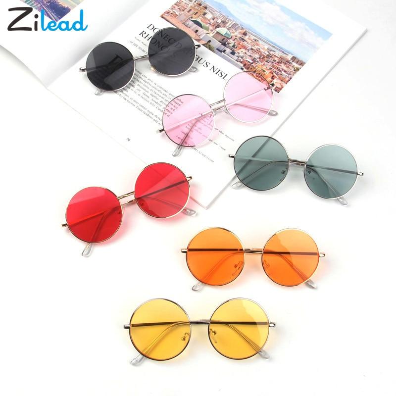 Zilead Candy Color Korean Simple Children Round Girls ANTI-UV Sunglasses Hot Boys Girls Kids  Retro Cute Sun Glasses Eyewear