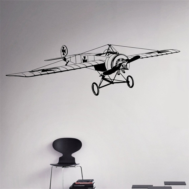 Aviation Vinyl Decal Air Force Wall Sticker Aircraft Army Home Wall Interior Bedroom Dec ...