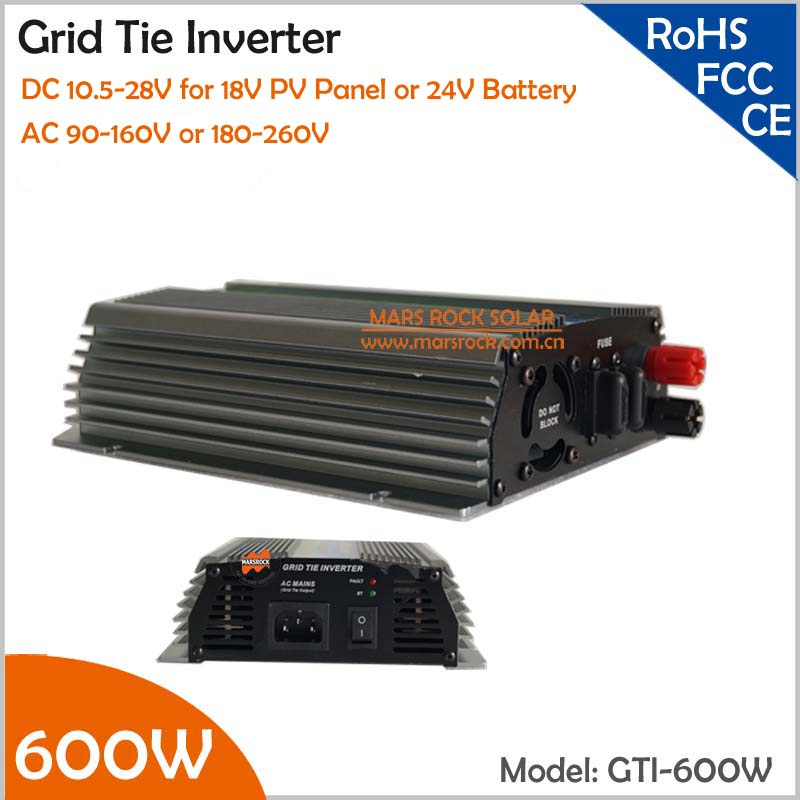 цена на 600W Grid Tie Micro Inverter, 10.5-28V DC Suitable for 18V Solar Panel or Wind Turbine with CE, ROHS, FCC approved