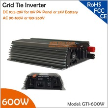 600W Grid Tie Micro Inverter, 10.5-28V DC Suitable for 18V Solar Panel or Wind Turbine with CE, ROHS, FCC approved