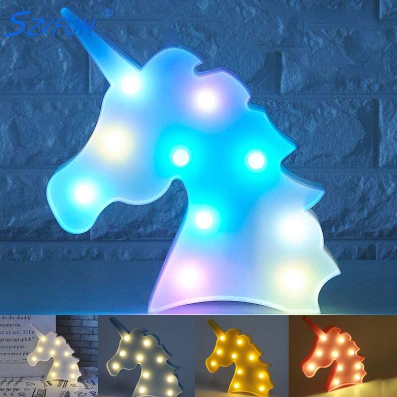 Flamingo Unicorn Lamp Kids Led Night Light Baby Unicorn