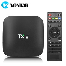 VONTAR TX2 2GB 16GB Rockchip RK3229 Android 6.0 TV BOX Bluetooth 2.1 4K 60tps 2.4GHz WiFi  Media Player IPTV Smart Box  PK Z28