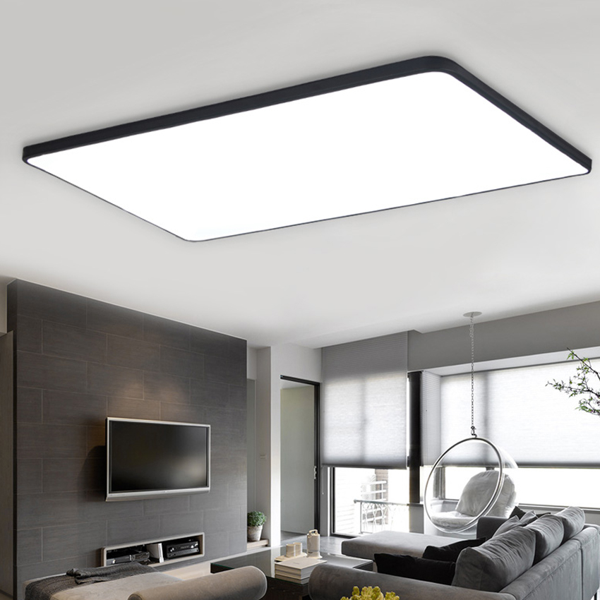 US $105.8 8% di SCONTO|Ultra sottile ferro Acrilico plafoniere a led per  soggiorno sala da pranzo Illuminazione domestica 70 w 44 w 32 w moderna ...