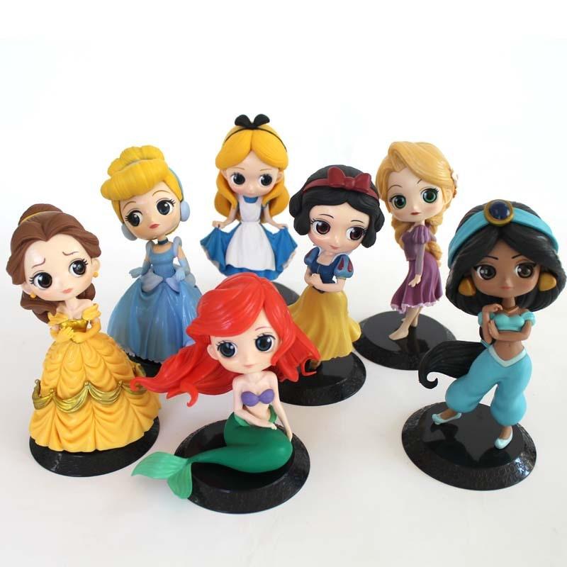 Alice/'s Adventures in Wonderland set of 6pcs PVC figure figures dolls doll toy n