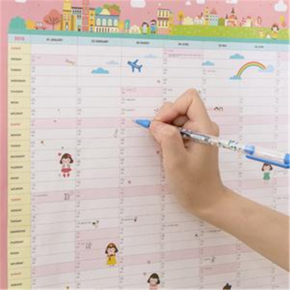 1PC sell 365days Wall Calendar Planner Agenda 2018 Sketchbook Diary Planner Weekly Monthly Notebook Organizer School