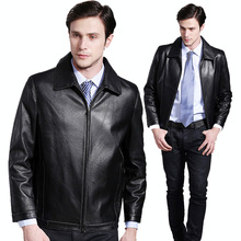 2016 Autumn 100% Guaranteed Goat Real Natural Genuine Leather Men's Short Commercial Leisure Jackets Clothing Coat Garment