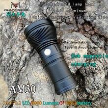 Amutorch AM30 cree XHP70.2 30w 4000 lúmenes potente linterna LED usb carga magnética brillo linterna recargable 18650