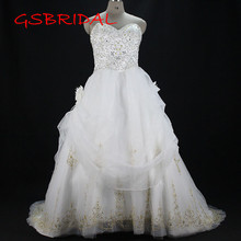 Wedding Dress 2017 Sweetheart Embroidery Flower Bridal Dresses vestidos de noiva robe de mariage Custom made Wedding Dresses