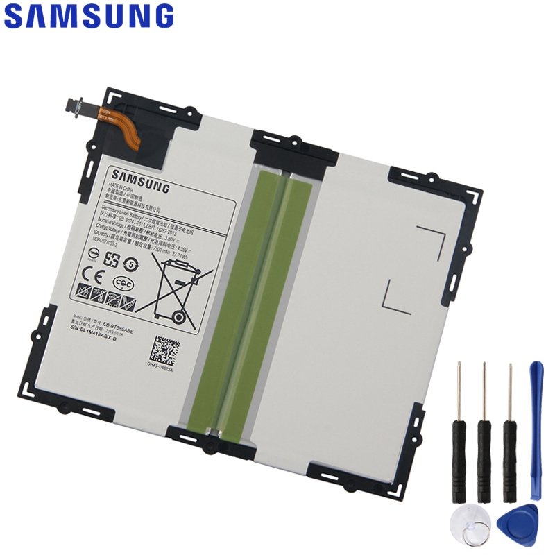 Original Replacement Samsung Battery For Galaxy Tab A 10.1 2016 T585C BT580 Genuine Tablet Battery EB-BT585ABE 7300mAhOriginal Replacement Samsung Battery For Galaxy Tab A 10.1 2016 T585C BT580 Genuine Tablet Battery EB-BT585ABE 7300mAh
