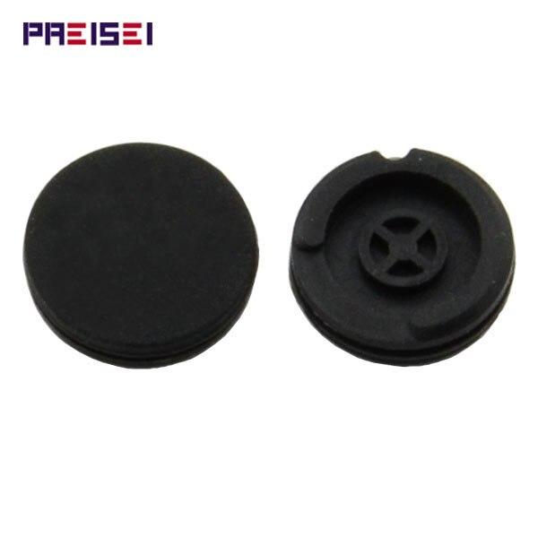 PREISEI No Logo Black Silicon Key Button Rubber Pads Replacements For Peugeot 406 Remote Key 406